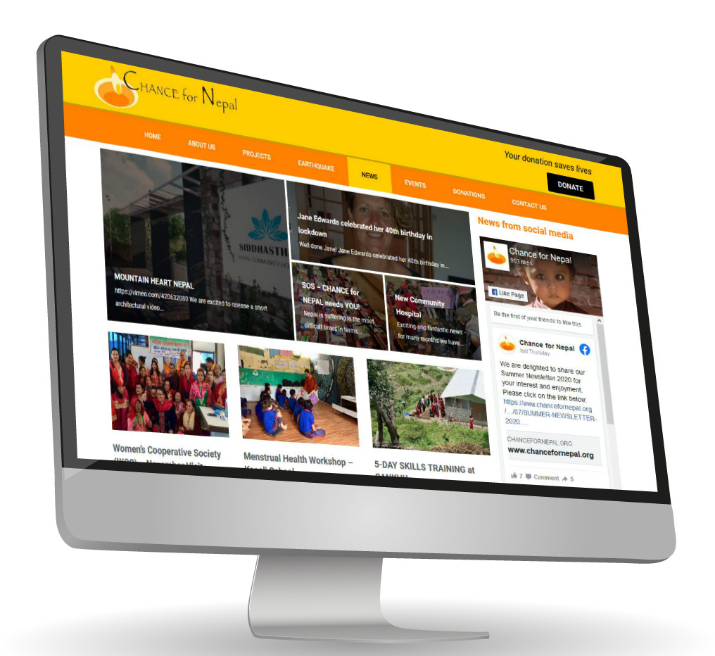 Boonwag Website Design Sussex - Case Studies - Chance for Nepal