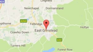 Website Design East Grinstead West Sussex Map