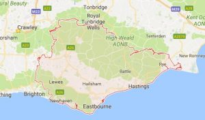 Website Design East Sussex Map