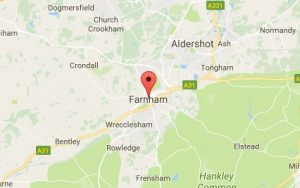 Website Design Farnham Map