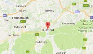Website Design Guildford Map
