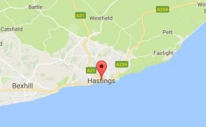 Website Design Hastings East Sussex Map
