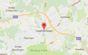 Website Design Leatherhead Map