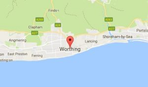 Website Design Worthing Sussex Map